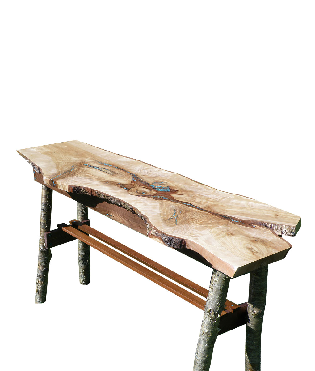 Rustic Hall Or Sofa Table With Inlaid Turquoise | Rustic Furniture And  Decor From RusticArtistry.