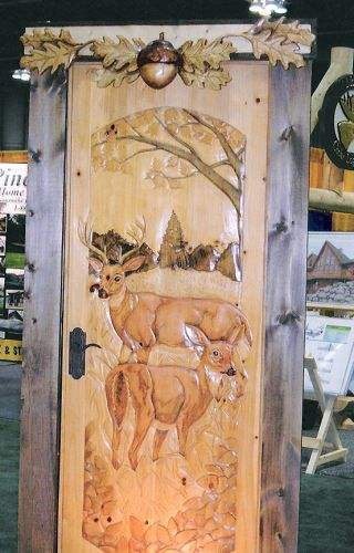 Grazing Deer Door Rustic Artistry