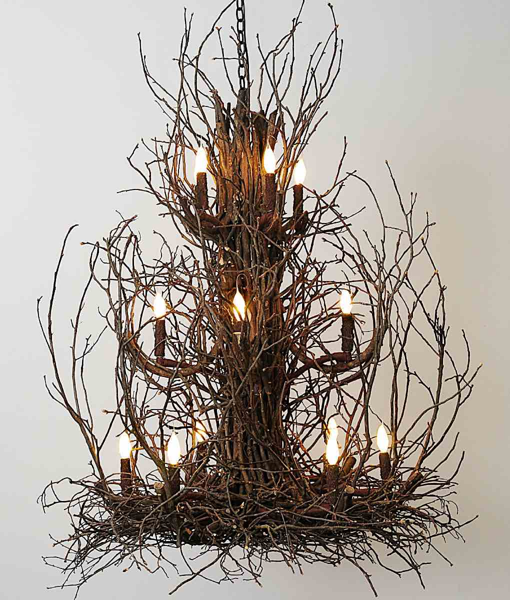 Three tier Twig Chandelier | Rustic Chic Furniture and Decor from RusticArtistry.com