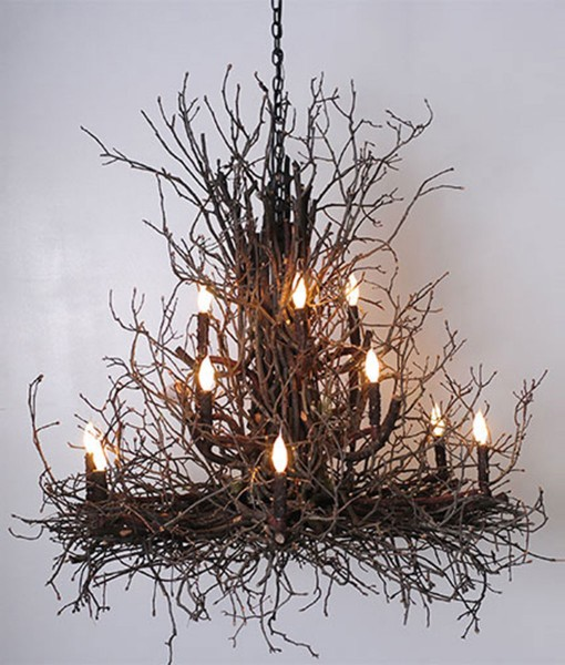 branchelier twig chandelier Briarwood Wish Designs