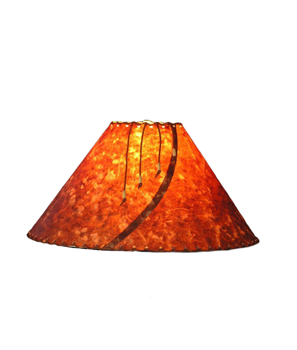 Handmade paper lamp shades with natural buttons and leather lacing from Rustic Artistry