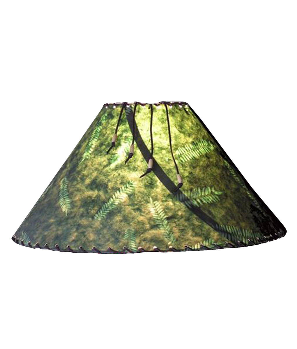 Forest Green Fern Lamp Shade - Rustic Artistry