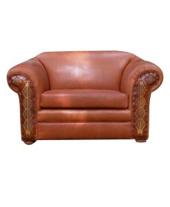 Creekside tooled leather club chair