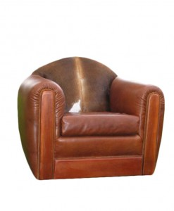 Leather, Cowhide and Mesquite Arm Chair, Fully Customizable | Western furniture and decor from RusticArtistry.com