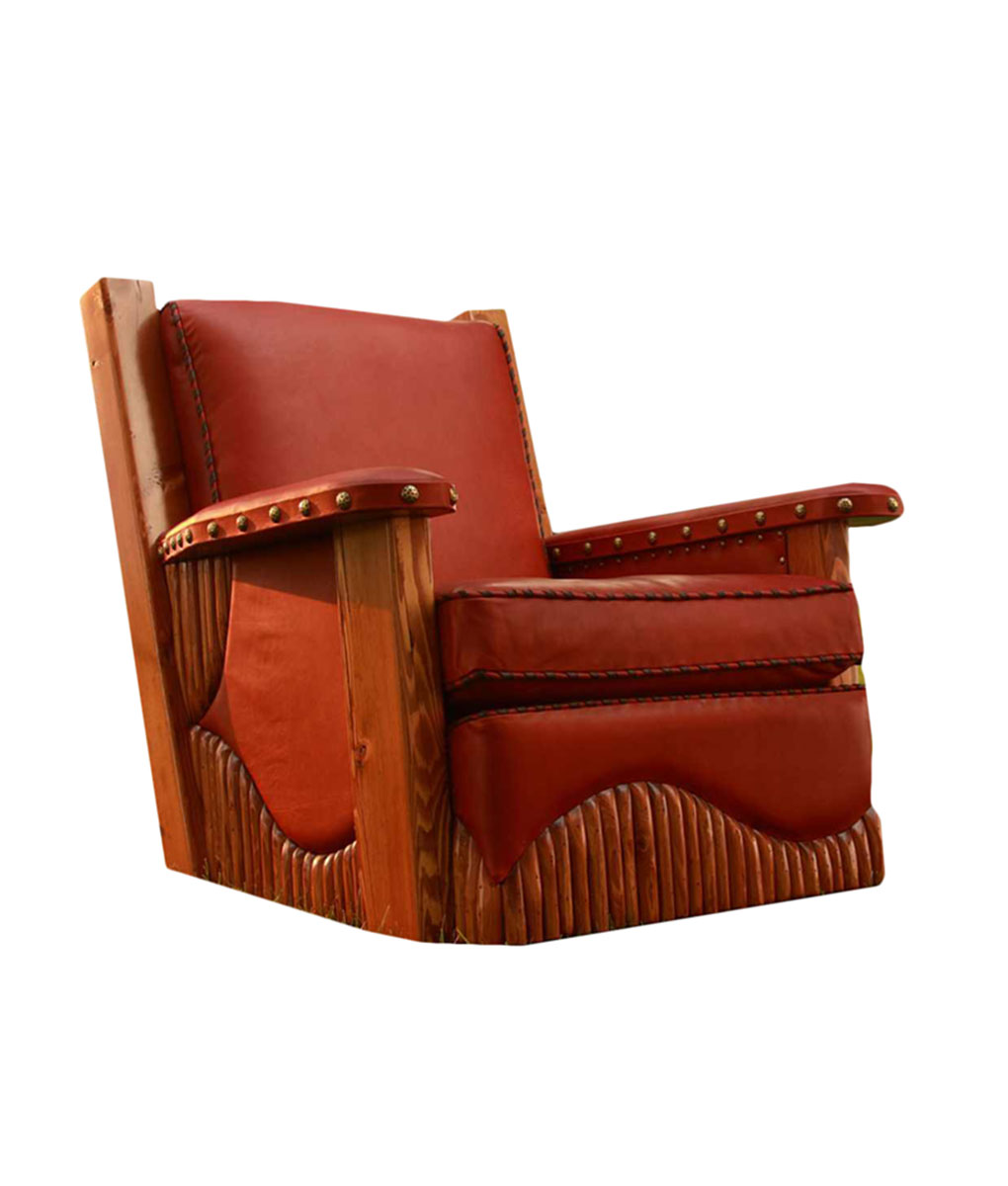 The Mountain Sunset Molesworth Club Chair | Western Seating from Rustic Artistry