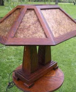 mission craftsman arts and crafts mica lamp