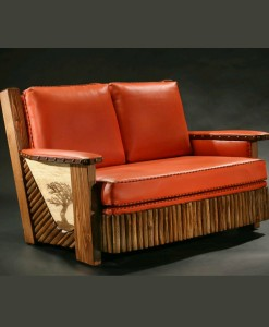 The Cody Molesworth Loveseat - can be made in any color leather | Western Home Decor from RusticArtistry.com