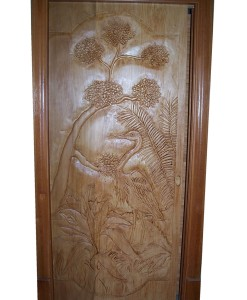 Custom CARVED WOOD DOOR with heron | Cabin, ranch, lodge, rustic decor | Unique Rustic Chic by RUSTIC ARTISTRY