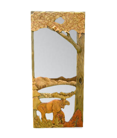 Custom CARVED SCREEN DOOR with moose and lake carving | Cabin, ranch, lodge, rustic decor | Unique Rustic Chic by RUSTIC ARTISTRY