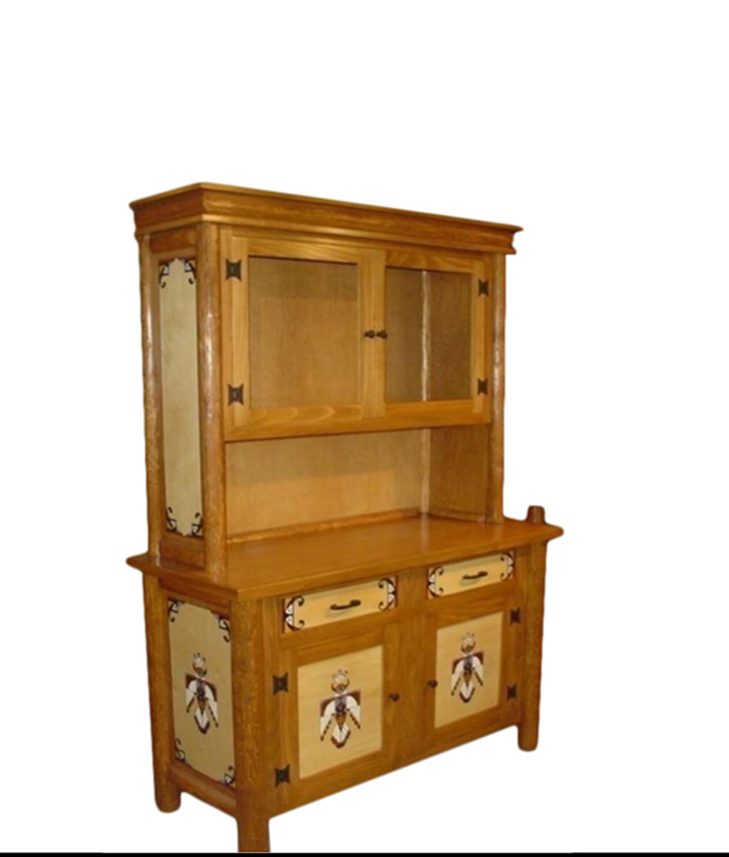 Molesworth thunderbird buffet and hutch rustic artistry for Native american furniture designs