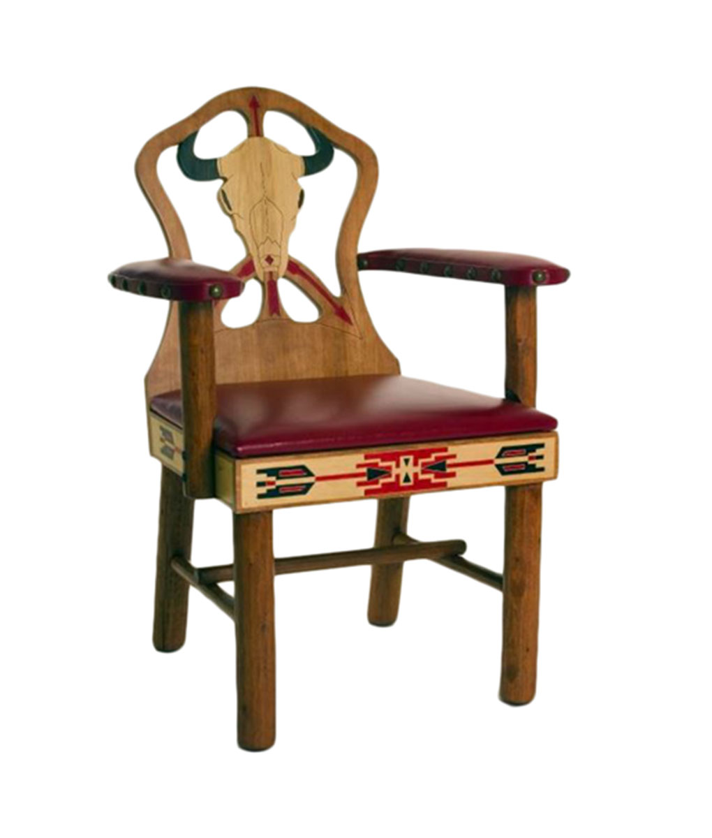Molesworth Cowboy And Cowgirl Carved Dining Arm Chairs