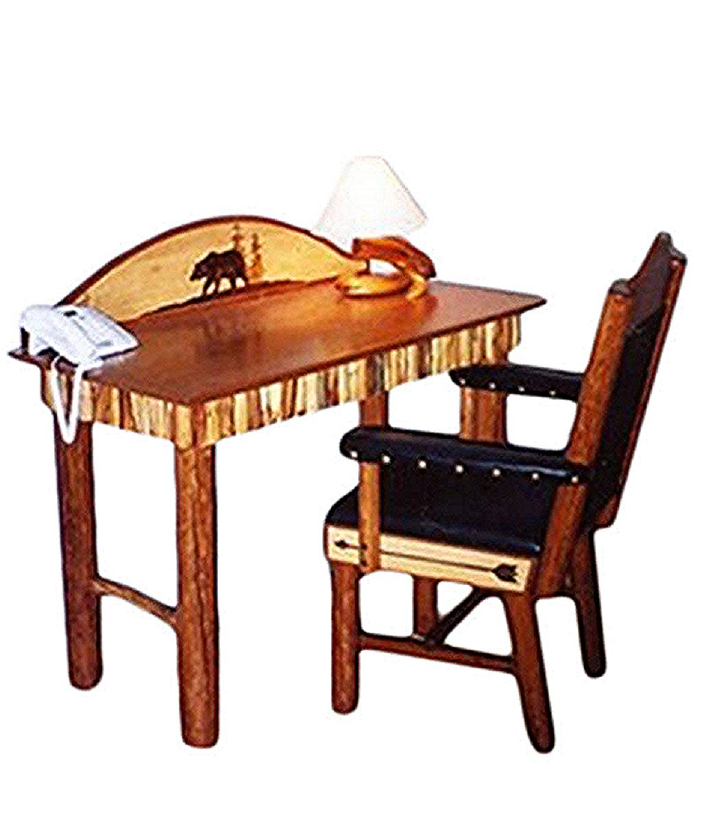 Molesworth style small writing desk and desk chair western furniture and decor from rustic artistry