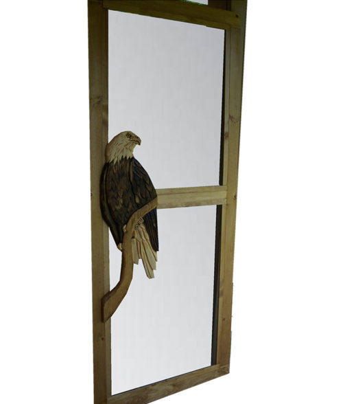CARVED SCREEN DOOR with eagle carving | Cabin, ranch, lodge, rustic decor | Unique Rustic Chic by RUSTIC ARTISTRY
