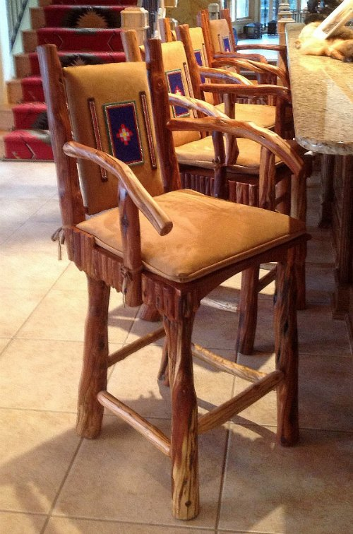 juniper barstools with beading