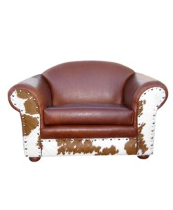 Extra Wide Cowhide and Leather Chair | Western furniture and decor from RusticArtistry.com