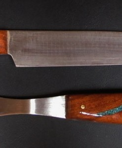 Carving Set with Turquoise Inlaid wood handles