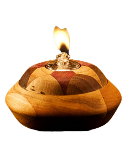 Wood Marquetry Oil Candle | Unique Rustic Chic Decor from RusticArtistry.com