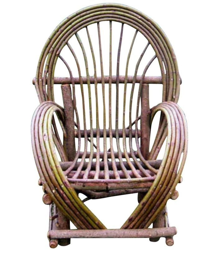 Bent Willow Arm Chair | Rustic Home Decor from RusticArtistry.com