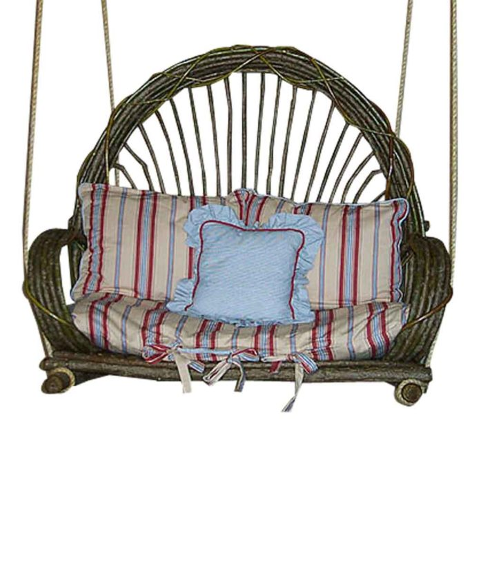 Bent Willow Porch Swing | Rustic Home Decor from RusticArtistry.com