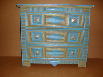 Adirondack style dresser with full willow twig coverage, can be painted in any color combination