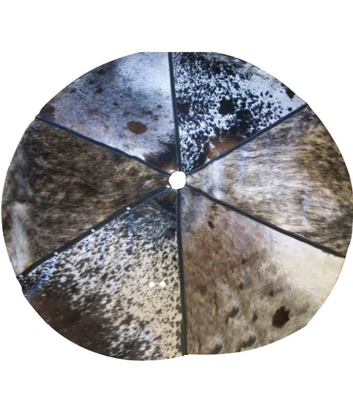 Cowhide Christmas Tree Skirt