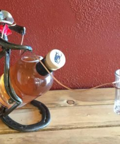 Shot Glass Lasso horseshoe cowboy bottle holder