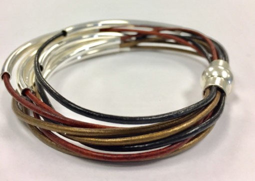 Leather Cord Multi band bracelet