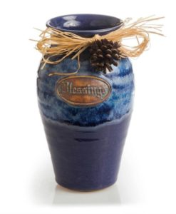 Blessings Jar Indigo River blue