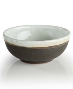 Ceramic Cereal Soup Bowl in charcoal white