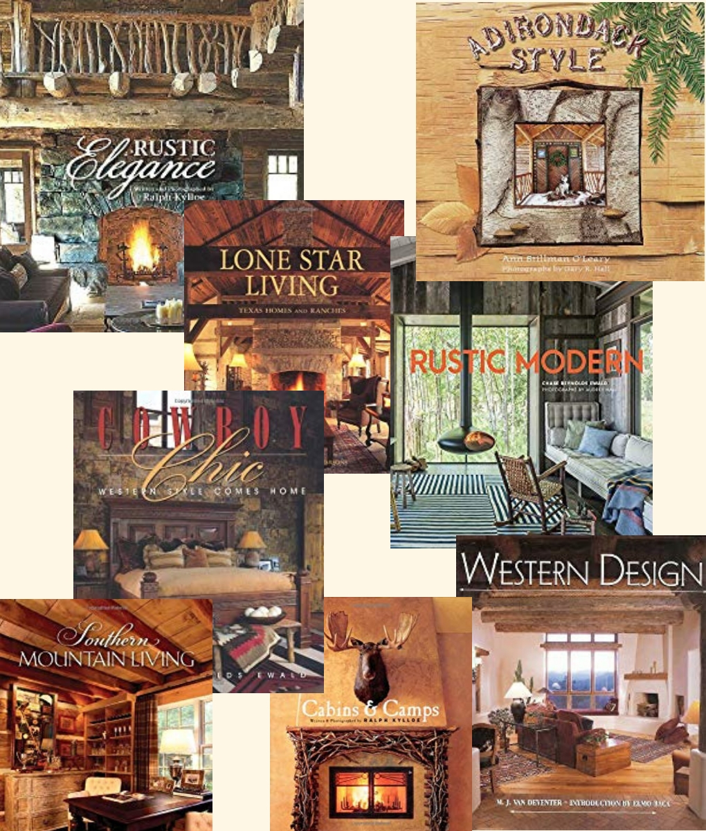 List of books about rustic furniture, decor, houses