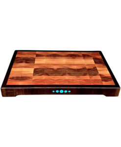 "Large 19""x12"" end grain birch wood cutting board"