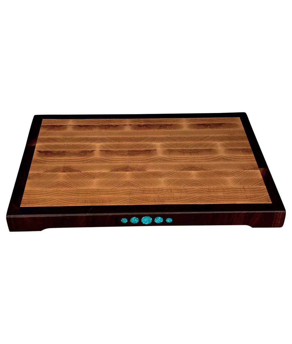 """medium 15""""x10"""" ash end grain wood cutting board"""