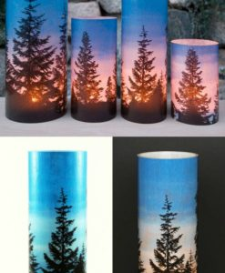 Pine Trees Candle Covers