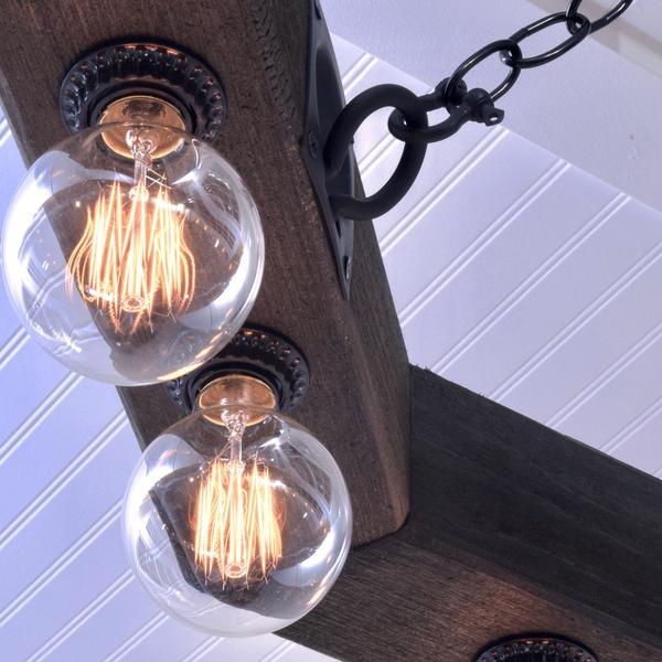 octagon chandelier bulb detail